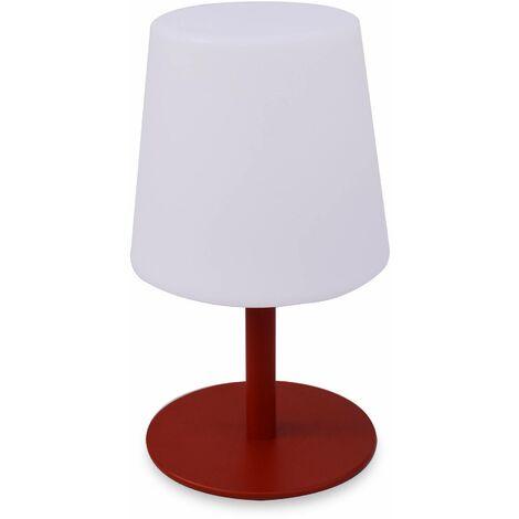 LAMPADA S COLOR - Lampe de table LED de 28cm rouge - Lampe de table décorative lumineuse, Ø 16cm