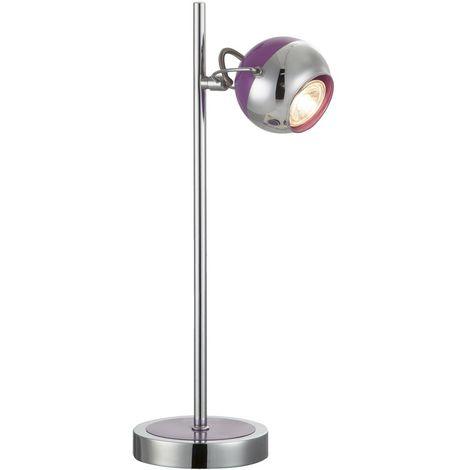 57887 Lampe De Table En 1t Violet Qualité Haute Led OkilwTPXZu