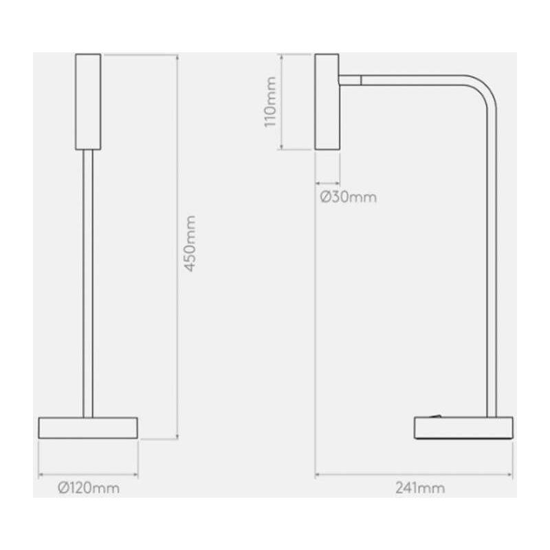 Cm Lampe H45 De Table Led Noir Enna shQrCtd