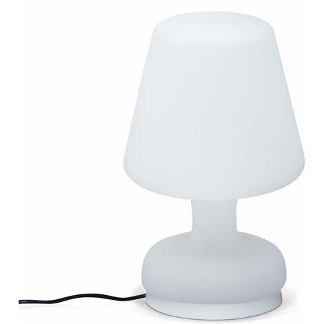 Lampe de table LED forme lampe 26cm, luminaire extérieur résistant à l'eau, recharge sans fil