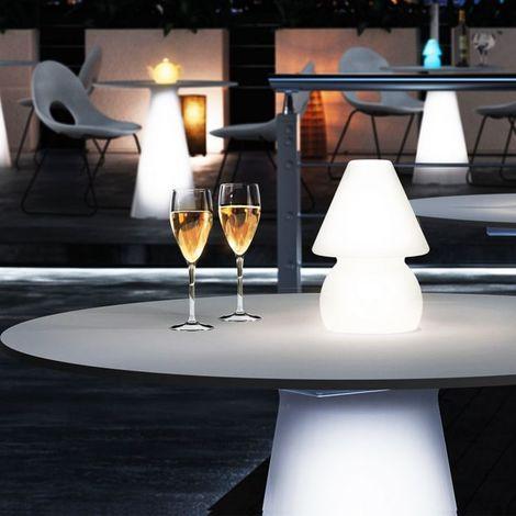 Lampe de table Led RGB à batterie My Light LYXO - Led RGB - Utilisable en extérieur et en intérieur - Sans fil - batterie rechargeable