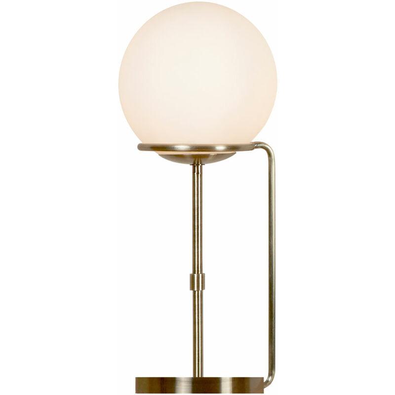 Etc-shop - Lampe de Table Lampe à Pied Télécommande en Laiton Boule en Verre Comprenant Ampoules LED RGB