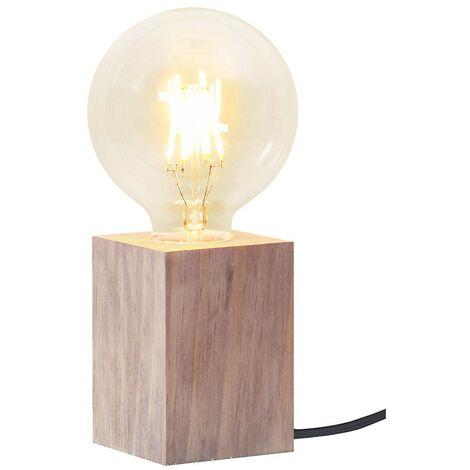 Lampe de table moderne bois