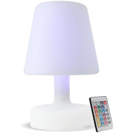 Lampe de table multicolore ou fixe rechargeable