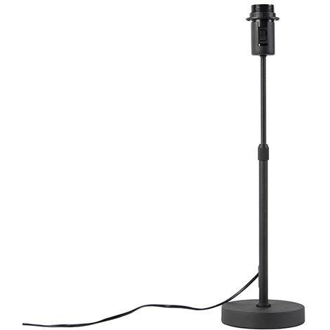 Lampe de table noir réglable - Parte Qazqa Design, Moderne Luminaire interieur