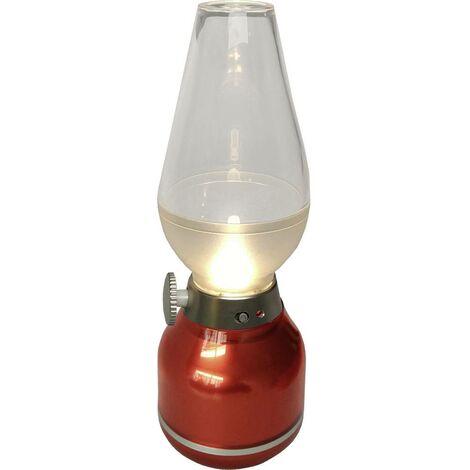 Lampe de table sans fil 0.4 W 3x LED intégrée blanc neutre LightMe LM85301 rouge 1 pc(s)