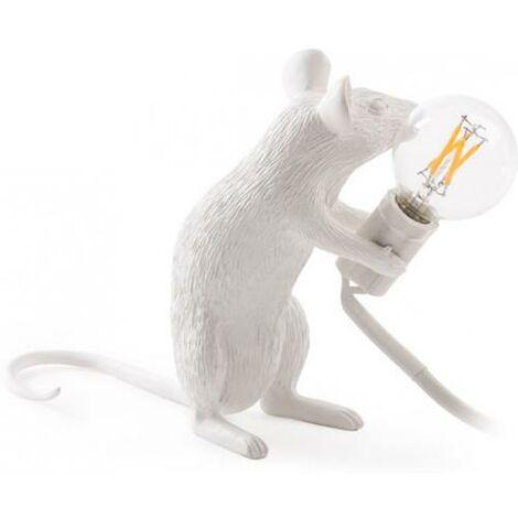 Lampe de table souris Seletti Style Blanc
