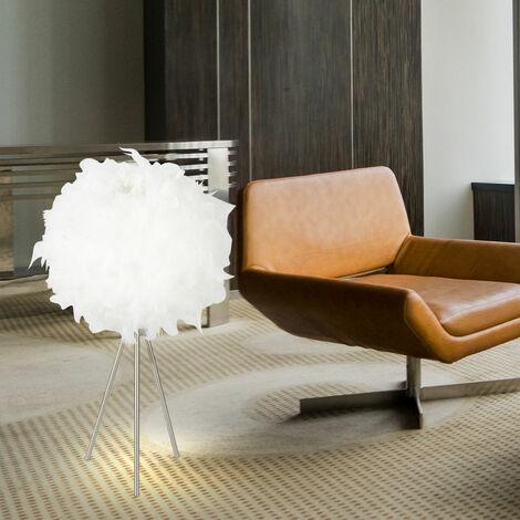Lampe de table tripode, abat-jour à ressort, hauteur 65 cm, KATUNGA