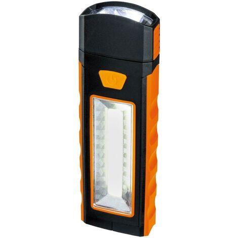 Lampe de travail a' leds 2,7w 6500k lumie're froide avec aimant et batterie ou crochet d'accumulateur avec interrupteur 789. 70
