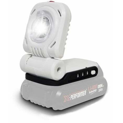 Lampe de travail / Bricolage / Jardinage à batterie 20V - X-Performer XPSPL20LI - LED 3W - sans batterie ni chargeur