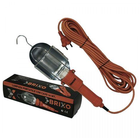 Lampe de travail pour éclairage à distance avec crochet câble d'alimentation de 10m