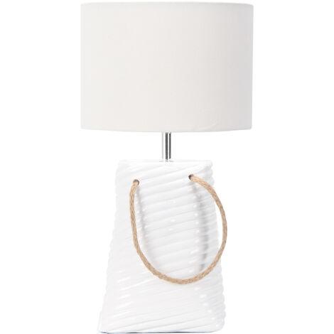 Lampe décorative à poser céramique blanche Éclairage interieur