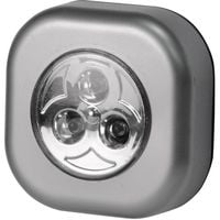 Lampe décorative carrée, 3 leds grise, 3 leds grise