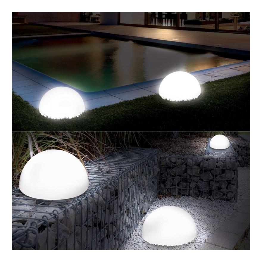 Demi Lampe 4 Boule Cm Leds X2 20 Solaires QdCBshtrx