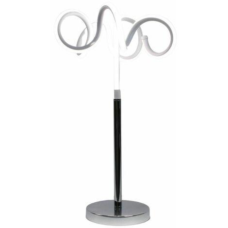 Lampe design à poser originale LED boucles - ARIES - Gris