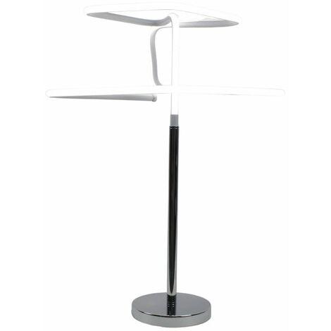 Lampe design à poser originale LED losangée - DIAMOND - Gris