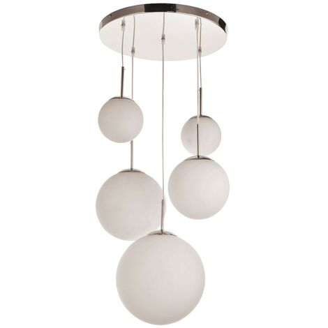 Lampe design avec cinq fusées de tailles différentes