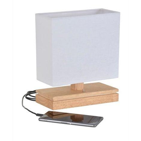Lampe design Corep Energy Blanc Bois 651317