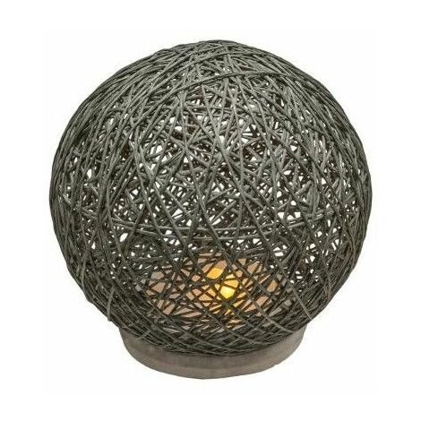 Lampe design en forme de boule - D 18.5 cm - Gris