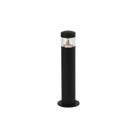 Lampe d'extérieur Moderne noire 40 cm IP44 avec LED - Roxy Qazqa Moderne Luminaire exterieur IP44 Cylindre / rond