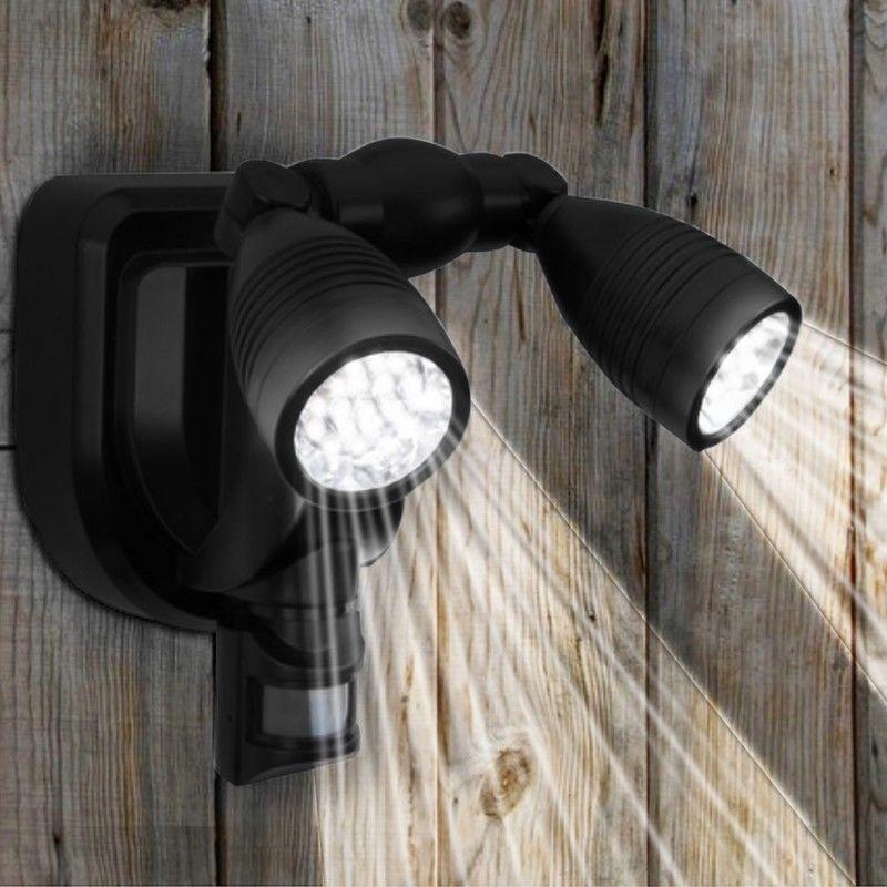 Lampe Double Projecteur Solaire Orientable 38 Leds Avec Detecteur De