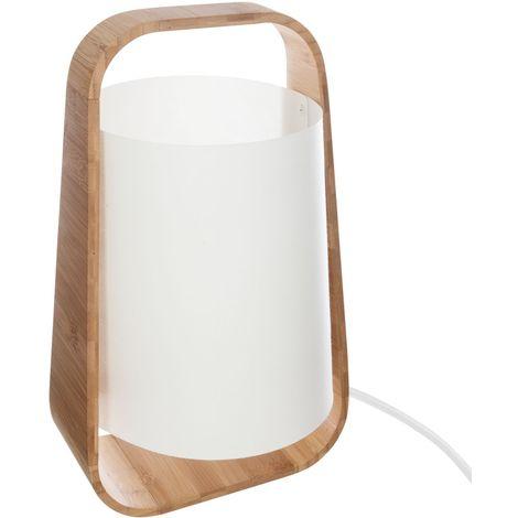 Lampe en bambou Life - H. 35 cm - Blanc