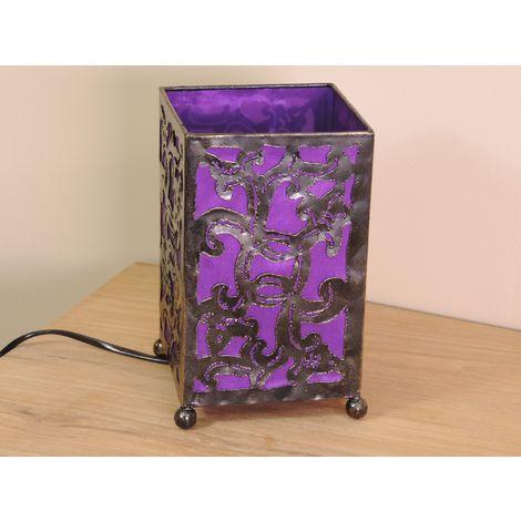 20 Violet En Hauteur Fer 12 Cm Forgé Rectangle Lampe 5q4jLAR3c