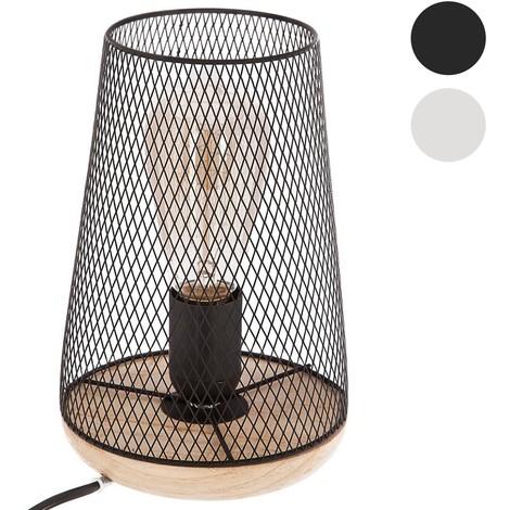 Lampe en métal & bois H23 | Noir
