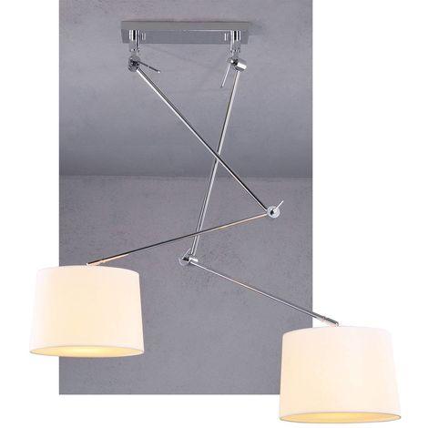 Bras Articulé En Double Lampe Suspension WHIYDbeE29