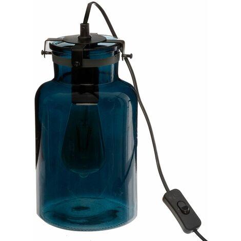 Lampe en verre teinté Edo bleu