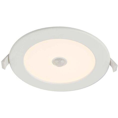 Lampe encastrable LED en aluminium lumière blanche opale éclairage salle de bain