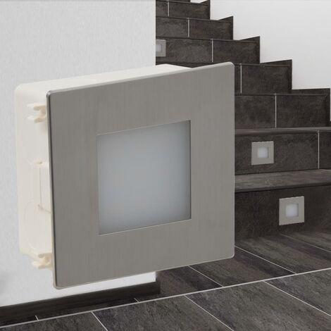 Lampe encastrée d'escalier à LED 2 pcs 85 x 48 x 85 mm