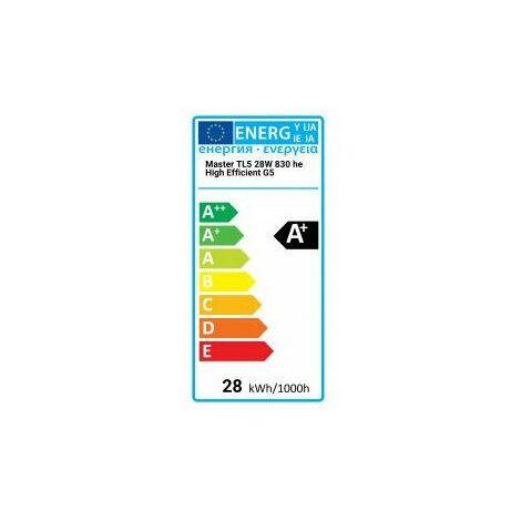 Lampe fluorescente MASTER TL5 haute efficacité - 28W/830 1SL/20 - Philips