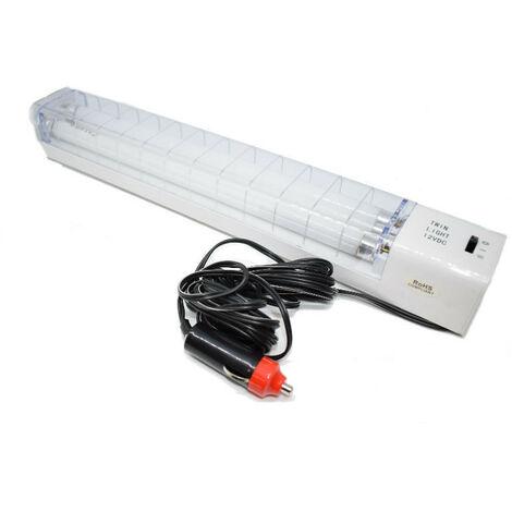 Lampe fluorescente portable 2X8W 12V avec allume-cigare 2653CW