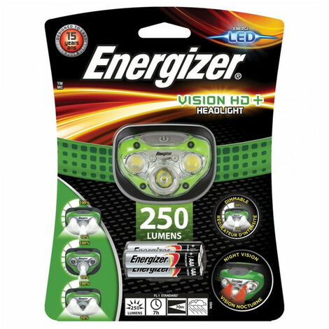 Lampe frontale 5 LED Vision HD+ Headlight Energizer