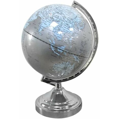 Lampe globe terrestre touch - Gris