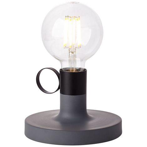 Lampe HAILEE 1x60W E27 Béton-Noir