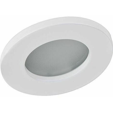 Lampe LED à encastrer 6,6 W ronde, aluminium mat
