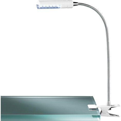 Lampe LED à pince 3.7 W 1x LED intégrée blanc chaud ACTION Flex 290312060000 blanc 1 pc(s)