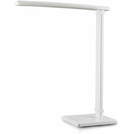 Lampe LED de bureau blanche dimmable port USB lampe de lecture lampe de table