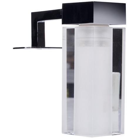 lampe led de salle de bain miroir empoli ranex acier et. Black Bedroom Furniture Sets. Home Design Ideas