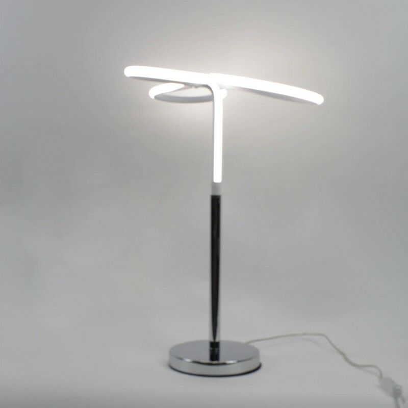 Lampe LED design à poser angulaire Classe énergétique A++ - CLOVER - Gris