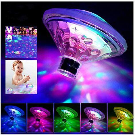 Lampe LED Flottante à Piles pour Piscine/étang 7 Modes de Couleurs Assorties(2pcs)