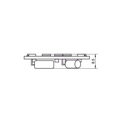 "main image of ""Lampe LED G4 10-30V 2W5 blanc chaud diamètre 30 mm"""