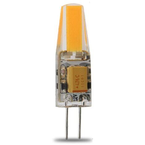 Lampe LED G4 silicone 1W8 COB 12VDC blanc chaud diamètre 10 mm