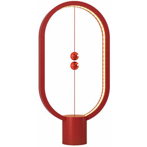 Lampe LED Heng en plastique rouge avec interrupteur magnétique - Allocacoc