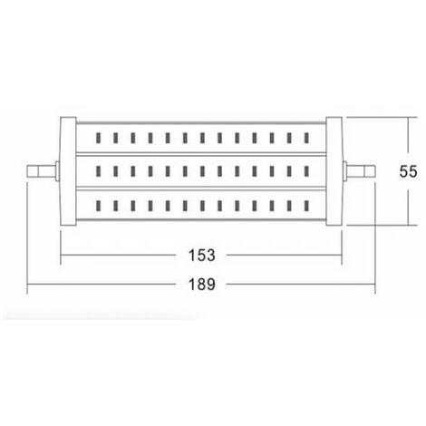 Lampe LED R7S 189 mm 15W 230V blanc chaud 1300 Lumens