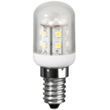 Lampe LED spéciale frigo E14, 1W2 230V, blanc chaud