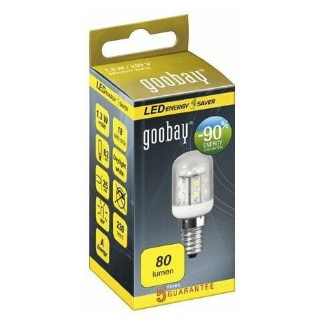 Lampe LED spéciale frigo E14, 1W2 230V, blanc froid