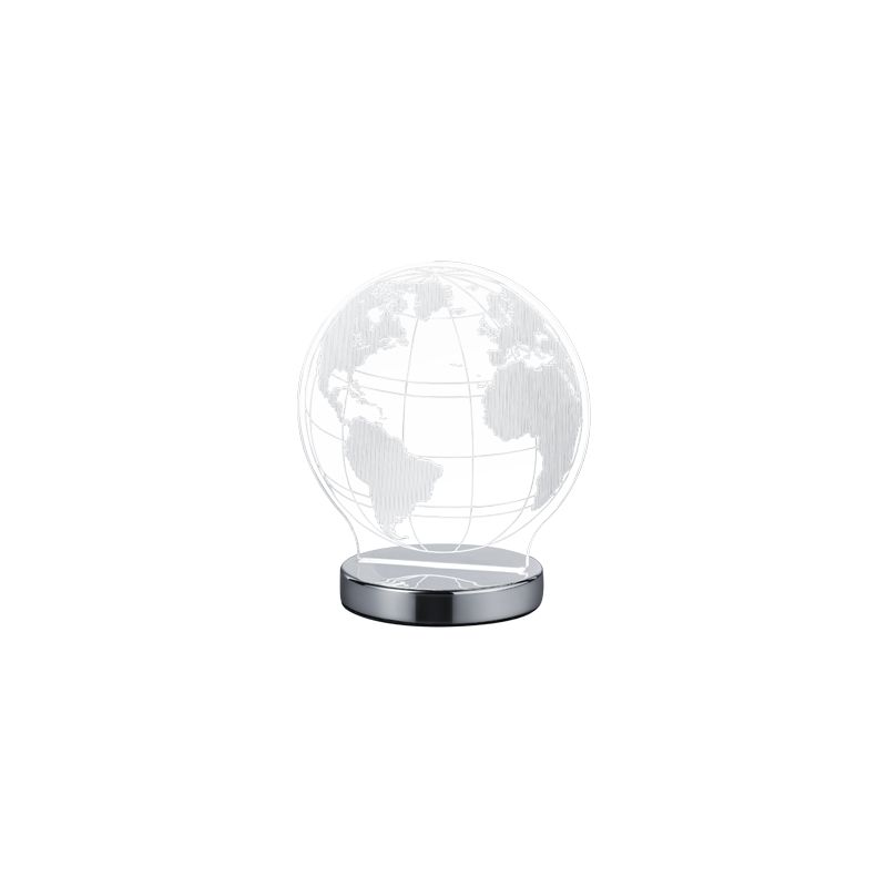 Led Lampe Métal Chrome Globe Acrylique R52481106 Trio Verre WH9EYbeD2I